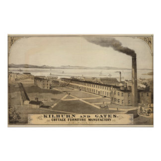 Kilburn and Gates Cottage furniture manufactory Poster