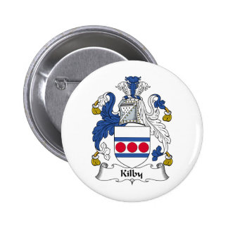 Kilby Family Crest Pinback Buttons