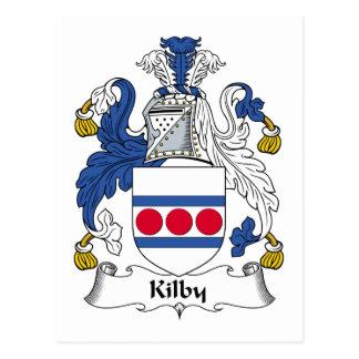Kilby Family Crest Postcard