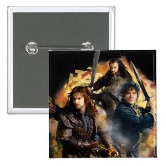 Kili, BAGGINS™, & THORIN OAKENSHIELD™ Graphic Pinback Button