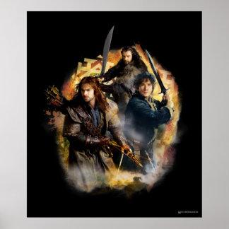 Kili, BAGGINS™, & THORIN OAKENSHIELD™ Graphic Poster