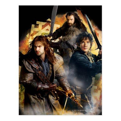 Kili, Bilbo, and Thorin Graphic Postcard