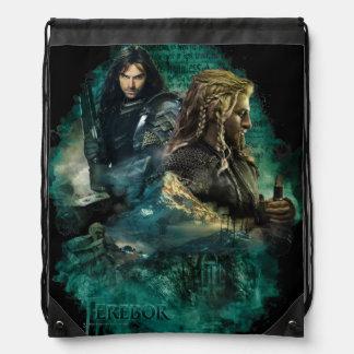 Kili & Fili Over Erebor Cinch Bags