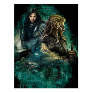 Kili & Fili Over Erebor Postcard