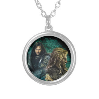 Kili & Fili Over Erebor Silver Plated Necklace