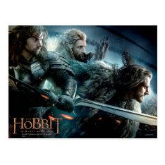 Kili, Fili, & Thorin Oakenshield™ Charge To Battle Postcard at Zazzle