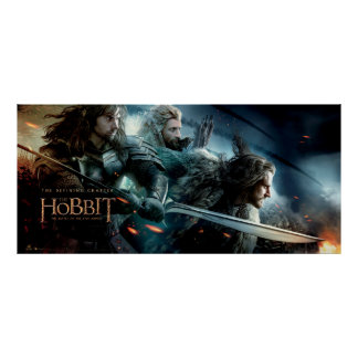 Kili, Fili, & THORIN OAKENSHIELD™ Charge To Battle Poster
