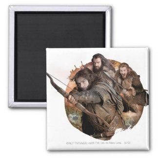 Kili Thorin and Fili Fridge Magnets
