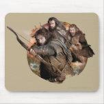 Kili, Thorin, and Fili Mousepad