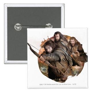 Kili, THORIN OAKENSHIELD™, and Fili Pinback Button