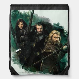 Kili, THORIN OAKENSHIELD™, & Fili Graphic Cinch Bag
