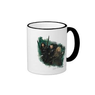 Kili, THORIN OAKENSHIELD™, & Fili Graphic Ringer Coffee Mug