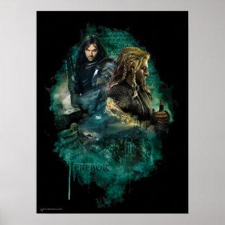 Kili y Fili sobre Erebor Poster