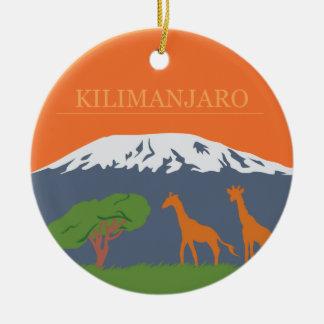 Kilimanjaro Adorno Navideño Redondo De Cerámica