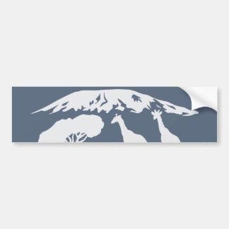 Kilimanjaro (azul) pegatina para auto