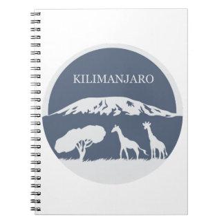 Kilimanjaro (Blue) Spiral Notebook