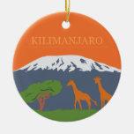 Kilimanjaro Ceramic Ornament