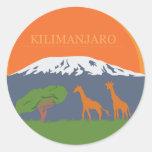 Kilimanjaro Classic Round Sticker