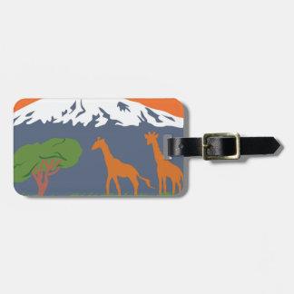 Kilimanjaro Luggage Tag