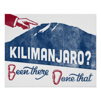 Kilimanjaro Mountain Climbing Poster