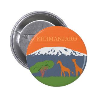 Kilimanjaro Pin Redondo De 2 Pulgadas