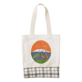Kilimanjaro Zazzle HEART Tote Bag