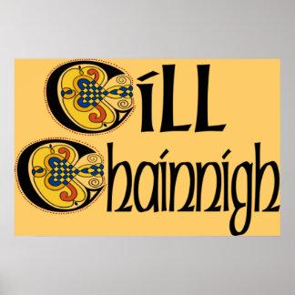 Kilkenny (Gaelic) Poster Print