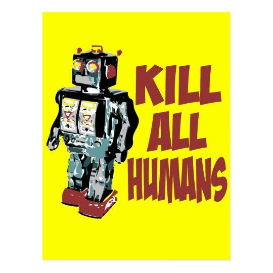Kill All Humans Postcard