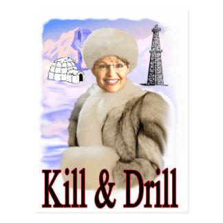 kill and drill postcard