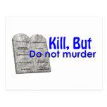 Kill But Do Not Murder Postcard