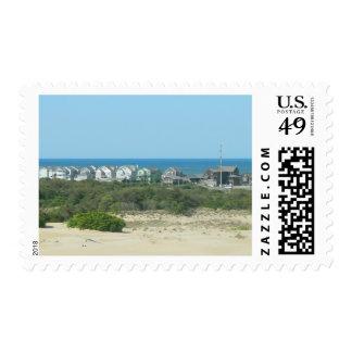 Kill Devil Hills Coastline Postage Stamp