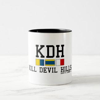 Kill Devil Hills. Two-Tone Coffee Mug