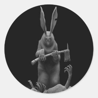 """""""Kill, Kill, Rabbit, Kill"""" by HATE Classic Round Sticker"""