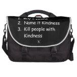 Kill Peole With Kindness Laptop Messenger Bag