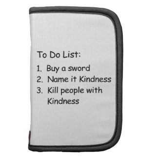 Kill Peole With Kindness Folio Planners
