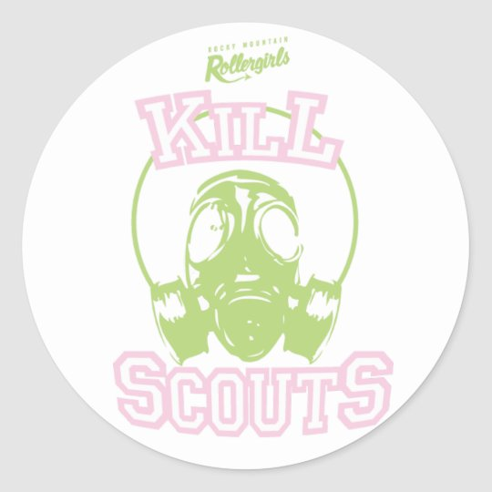 Kill Scouts Classic Round Sticker