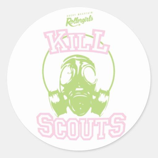 Kill Scouts Round Stickers