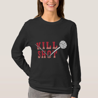 Kill Shot Volleyball Black T-Shirt