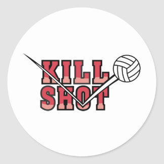 Kill  Shot Volleyball Classic Round Sticker