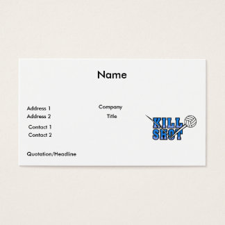 kill shot volleyball design business card