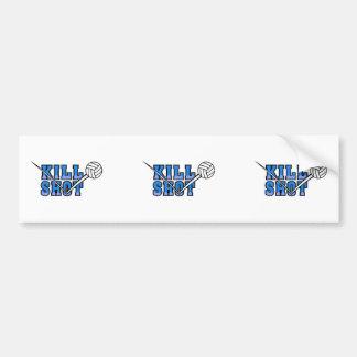 kill shot volleyball design car bumper sticker