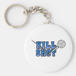 kill shot volleyball design basic round button keychain