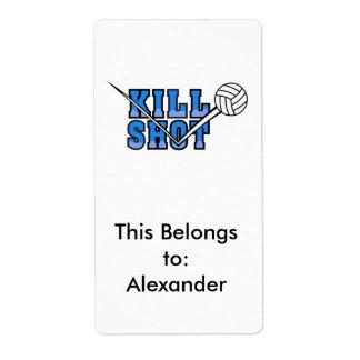 kill shot volleyball design shipping label