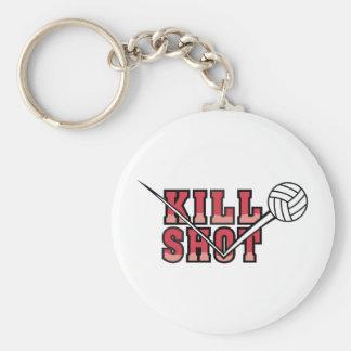 Kill  Shot Volleyball Basic Round Button Keychain