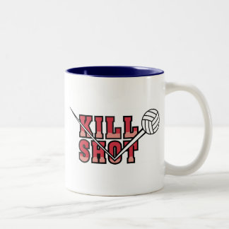 kill Shot Volleyball Two-Tone Coffee Mug