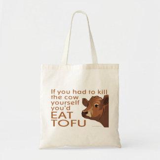 Kill the Cow - Vegan, Vegetarian Tote Bag