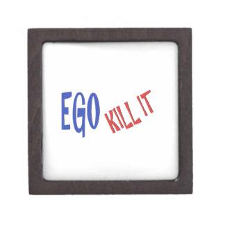 KILL THE EGO wisdom text graphics Jewelry Box