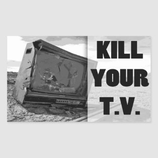 Kill Your T.V. Rectangle Stickers