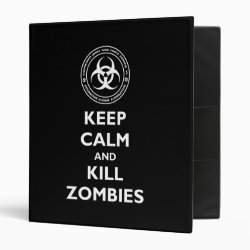 Avery Signature 1' Binder with Keep Calm and Kill Zombies design