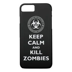 Case-Mate Barely There iPhone 7 Case with Keep Calm and Kill Zombies design